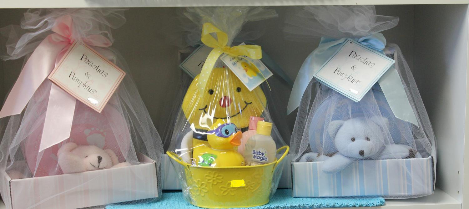 Baby Gift Basket Flowers : Gift baskets all about flowers
